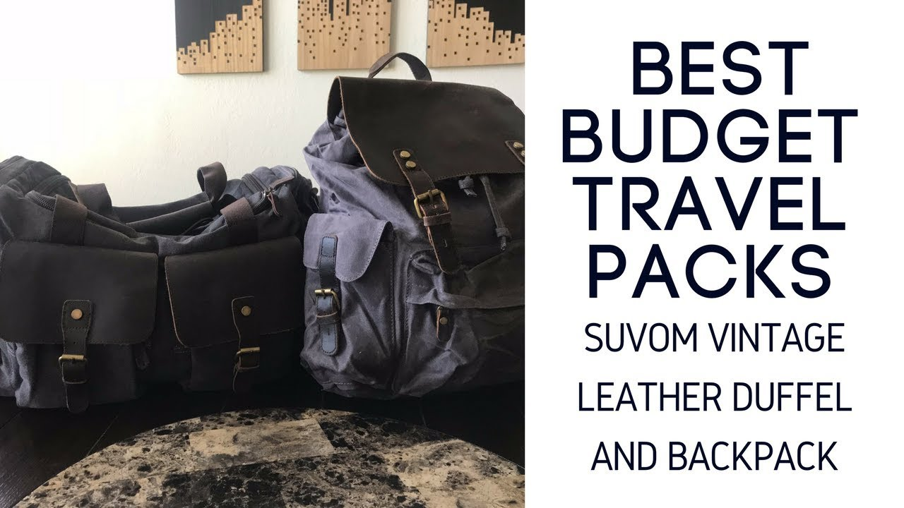 Best Budget Travel Packs  Suvom Vintage Leather Backpack and Overnight  Duffel Bag Review a09dcc8e689e8