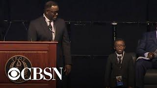 """John Lewis was my uncle and my hero"": Lewis' family speaks at memorial"