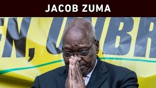 Former President Jacob Zuma spoke to his supporters after appearing in the state capture commission on 15 July 2019.