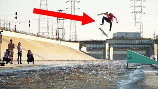 25 Foot Kickflip Over the LA River!