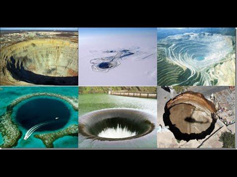 Дыры в Земле, уникальные места планеты, огромные воронки