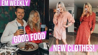 A Special Visitor, Good Food, London Vlog + New Spring Clothes | Em Sheldon Weekly Vlogs