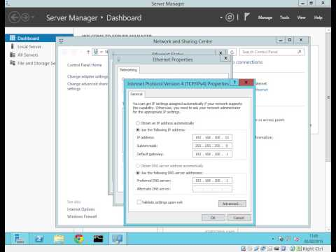 Server 2012 change IP