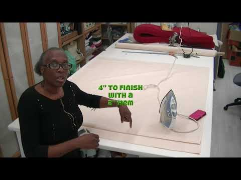 How to make pinch pleat curtains part 1