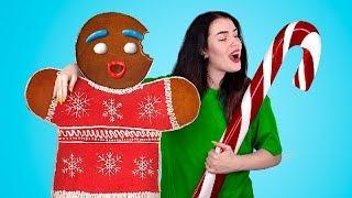 Огромные и миниатюрные новогодние сладости! Пряничный человечек и леденец!