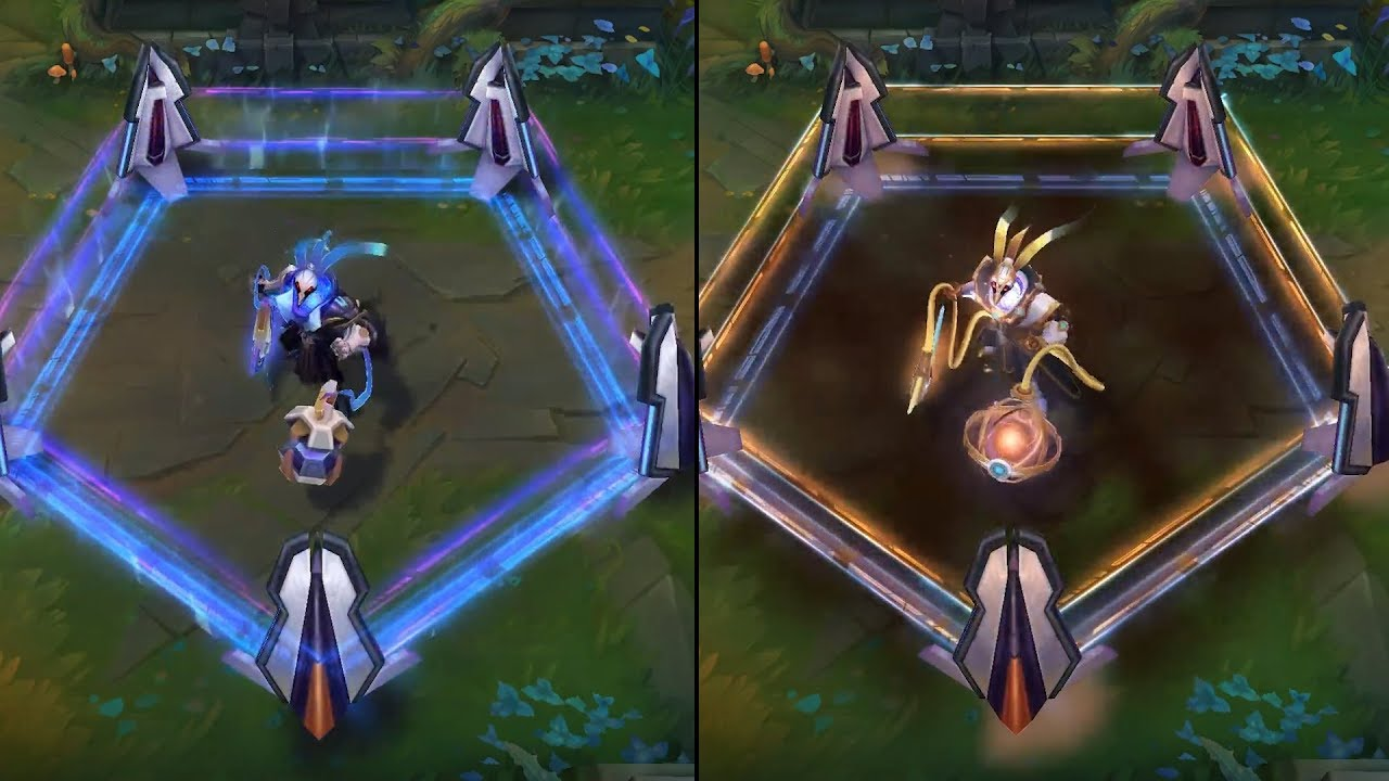 Pulsefire Thresh Prestige Edition Vs Pulsefire Thresh Skins Comparison League Of Legends Youtube