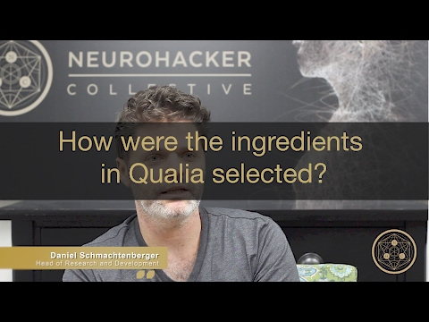 How were the ingredients in Qualia selected?