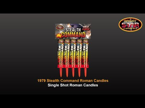 Bright Star Fireworks - 1979 Stealth Command Single Shot Roman Candles