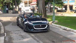 Jaguar F-Type Project 7 - Accelerations, Revs & LOUD Pops and Bangs !