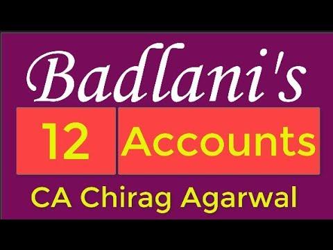 Accounts : 12