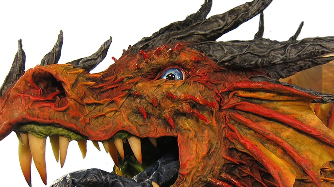 Papercraft Great Paper Mache Dragon Trophy