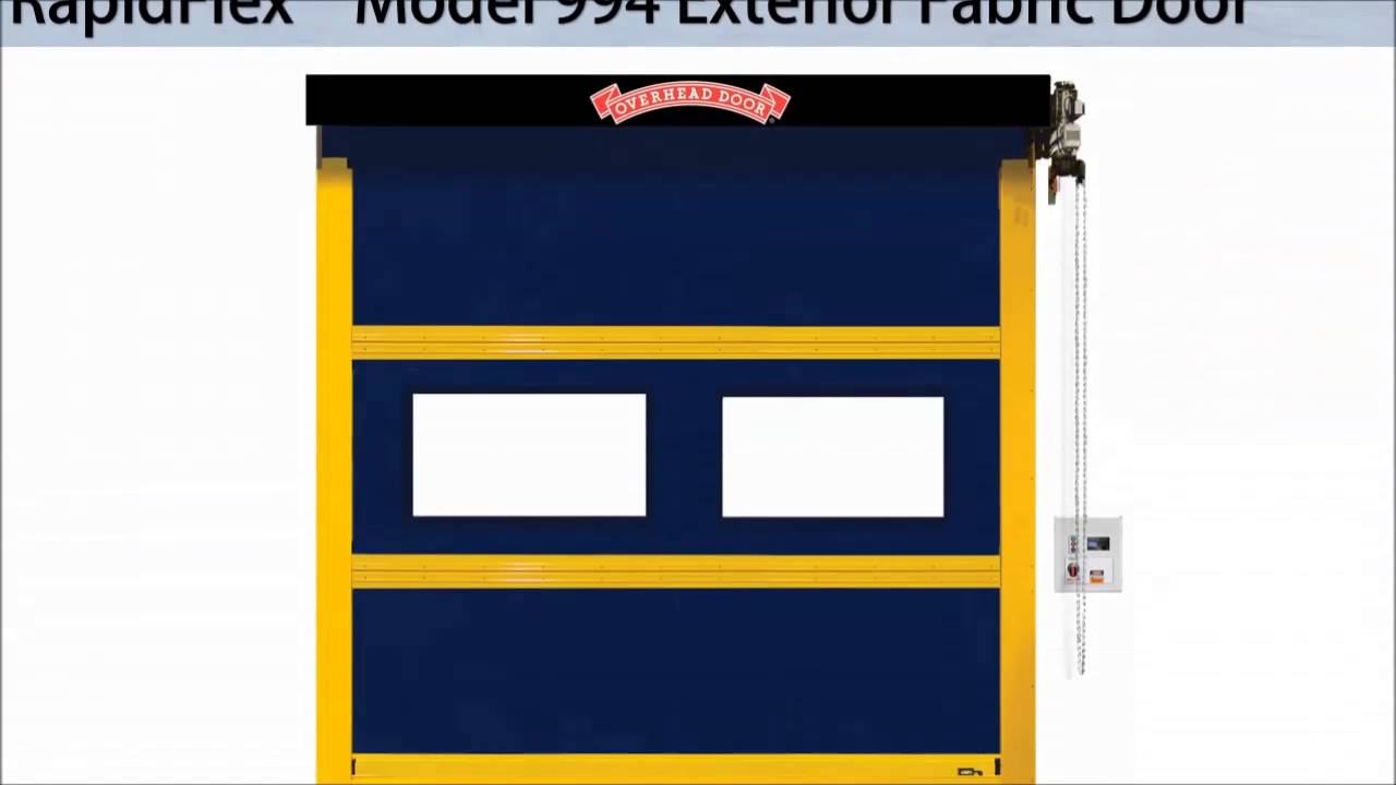 RapidFlex High Speed Doors | Fabric and Rubber Doors from Overhead Door - YouTube  sc 1 st  YouTube & RapidFlex High Speed Doors | Fabric and Rubber Doors from Overhead ...