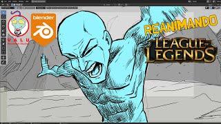 Estudando ANIME   BLENDER   League of Legends 3
