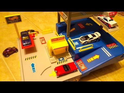 Garage Parking Stop >> Hot Wheels Sto & Go Parking & Service Garage Playset from ...