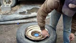 Redneck Tire Mounting