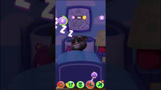 Talking Tom say good night everyone because he want to sleep 😴