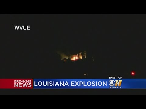 Oil Rig Explodes In Louisiana Lake, Injuries Reported