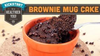 Brownie Mug Cake One Minute Microwave Healthy Recipe Gluten Free - Mind Over Munch Kickstart Series