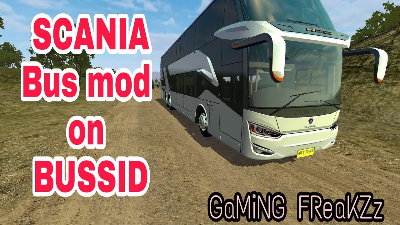 Bus simulator Indonesia |SCANIA bus mod| with mod download link