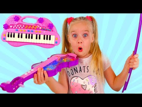 Learn Colors for Children and mother Piano Magic Toys Learning of musical instruments Video