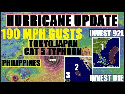 *BREAKING* CAT 5 TYPHOON JAPAN/PHILIPPINES, Hurricane PHILIPPE (ATLANTIC) HURRICANE SELMA (Pacific)