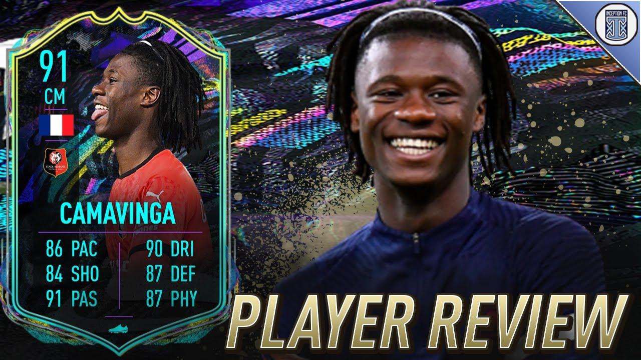 That Longshot Though 91 Future Stars Camavinga Player Review Fifa 21 Ultimate Team Youtube