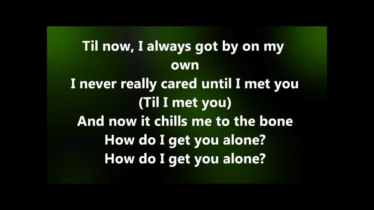 Alyssa Reid - Alone again part 2 (lyrics)