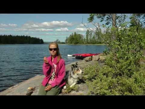 Wieder unterwegs (18) 2015:   KANU-Tour mit Sack & Pack auf dem STORA BÖR in Schweden