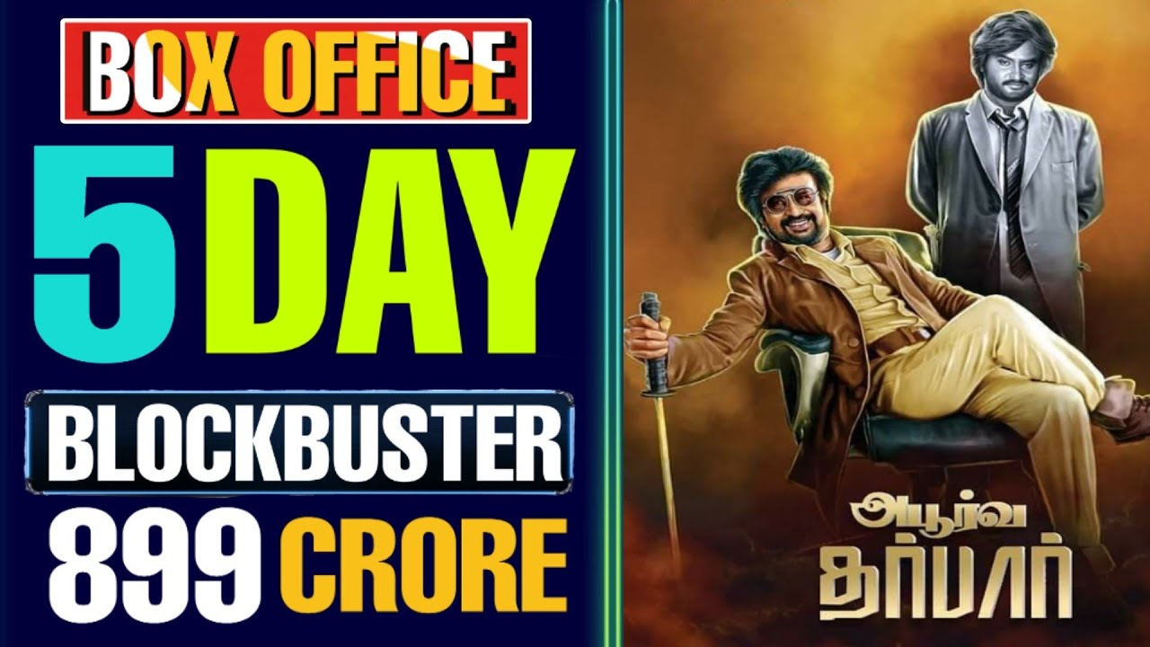 Image result for super star rajini darbar 5th day box office collection