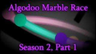 Algodoo Marble Race - Season 2, Part 1