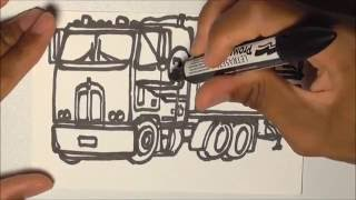 DRAWING TRUCKS!!! Kenworth K100