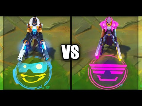 Pulsefire Lucian vs Demacia Vice Lucian Epic Skins Comparison (League of Legends)