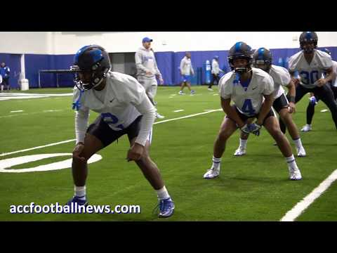 First day of 2018 Duke Spring Football Practice