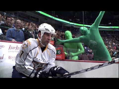 Green Men Return - Canucks Vs Predators - 01.11.10 - HD