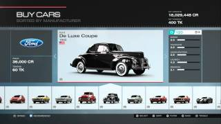 Forza Motorsport 5 All Cars (Including All DLC) (318 Cars)