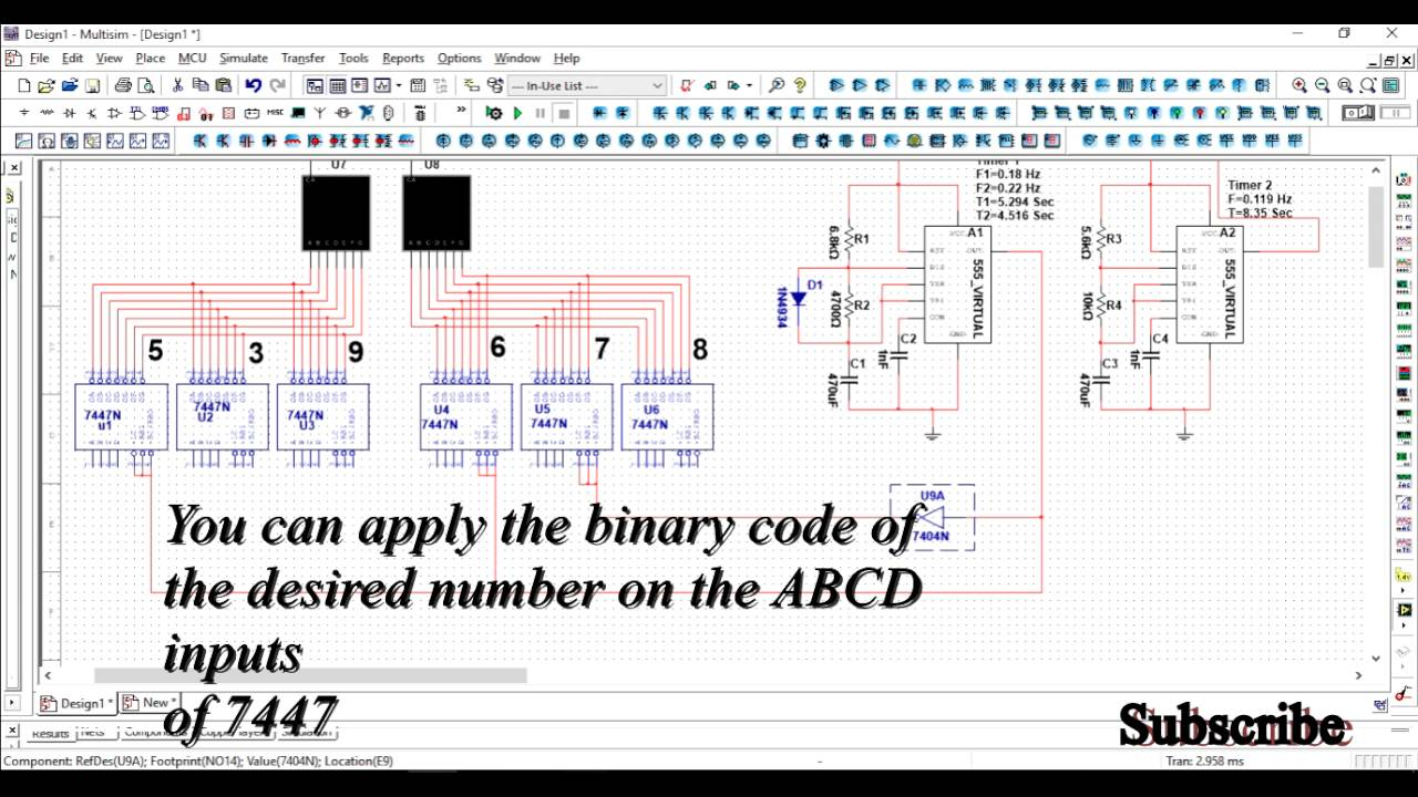 A Simple 555 Timer Ic Based Binary Counter Circuit Diagram Using In Monostable Mode Electronicshuborg As Pulse Generator And 7 Segment Display