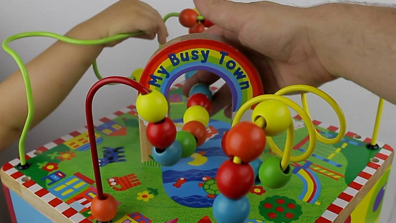 Busy Town Wooden Activity Cube by Alex Toys | Learning Maze with ...