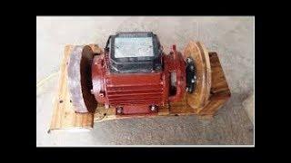 Chế máy bơm nước cũ thành máy mài dao kéo siêu khỏe part 2