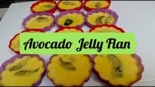 How to make Avocado Jelly Flan Recipe   Avocado Flans