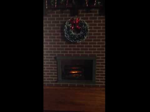 Fireplace on Christmas time