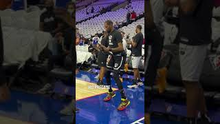 Kevin Durant's off-balance and ridiculous pregame workout! 🔥#shorts