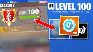 ALL New UNLOCKS for LEVEL 100 in SEASON 7 (Fortnite Battle Royale)