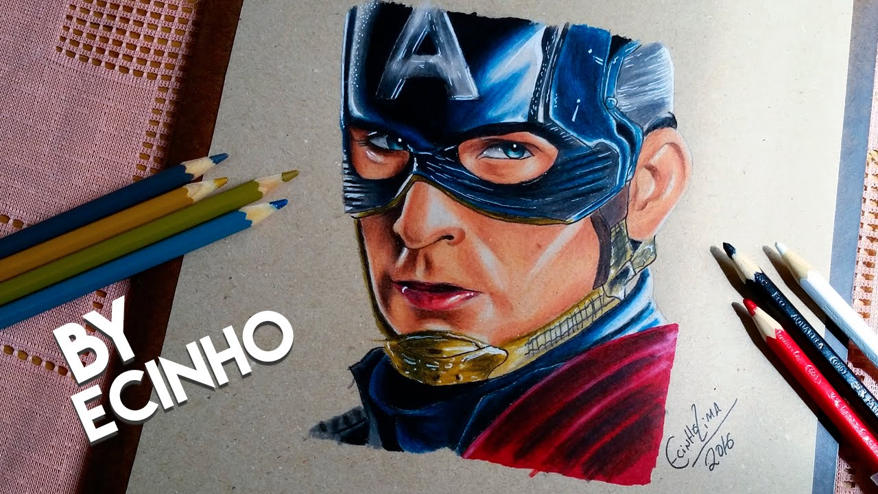 Drawing Capitao America Guerra Civil By Ecinho Youtube