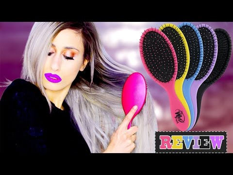 THE WET BRUSH // The BEST Detangling Brush Ever TEST // REVIEW on Tangly & Bleached Hair // DYNA