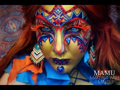 African Mask Makeup - AnaArthur81's 30k Contest