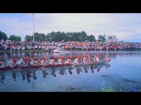 [HD] Trở hạ tiêu bơi hạng A | Lễ hội đua thuyền truyền thống trên sông Kiến Giang