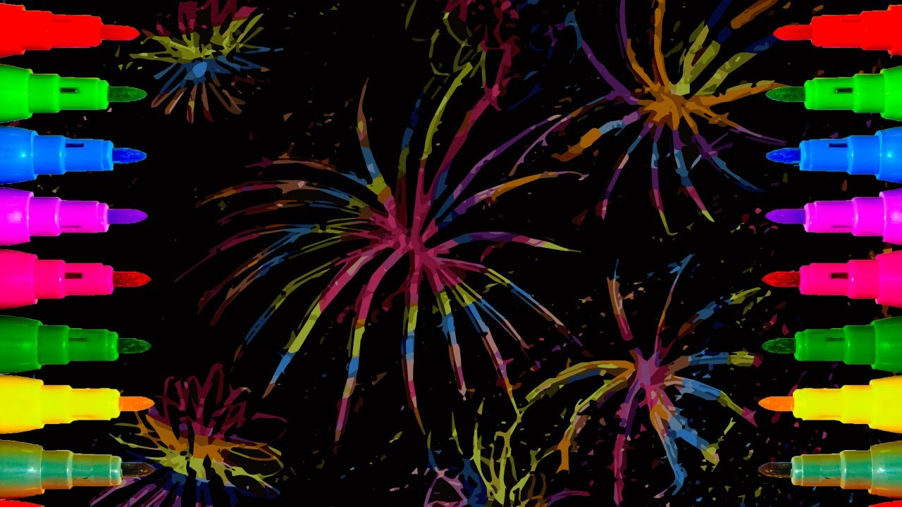 how to draw a 4th of july fireworks for kids coloring pages for