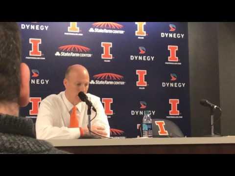 Illinois Head Coach John Groce talks tonight's win