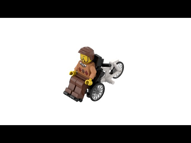LEGO® Custom Wheelchair Bicycle Tandem with Instructions