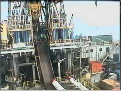 Accident caught on tape on offshore drilling rig